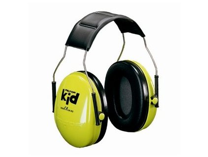 3m peltor kids ear muffs headband neon green 1