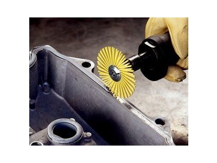 3mtm radial bristle disc yellow 3in