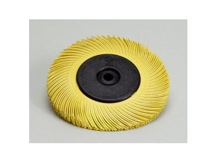 3mtm radial bristle brush t c 6 inch yellow