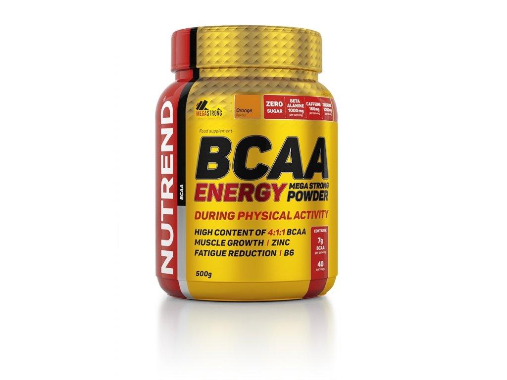 bcaa energy mega strong powder 500g orange
