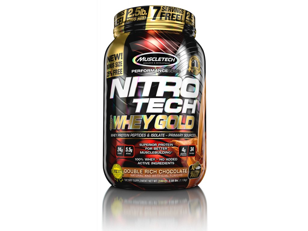 NITRO-TECH 100% Whey Gold 1.13kg - MuscleTech®