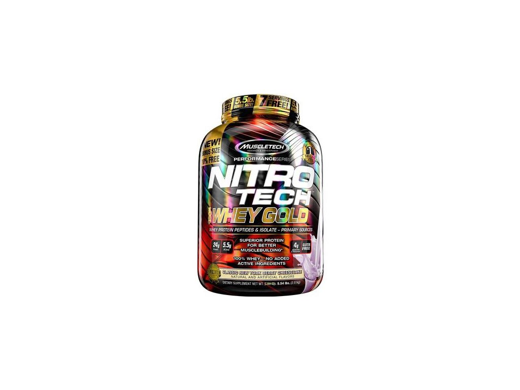 NITRO-TECH 100% WHEY GOLD 2,49 kg - Muscletech