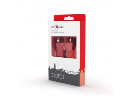 0007347 gmb audio porto earphones 35mm connection with microphone volume control black red