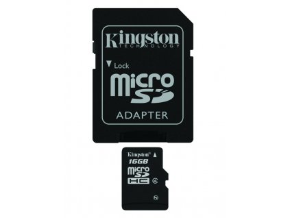 Kingston Micro SDHC 16GB Class 10 + SD adaptér