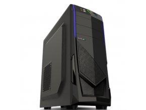 Počítačová skříň EVOLVEO R04 černá/modrá