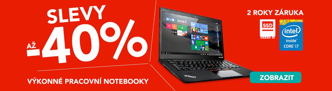 Výkonné notebooky se slevou 40 %