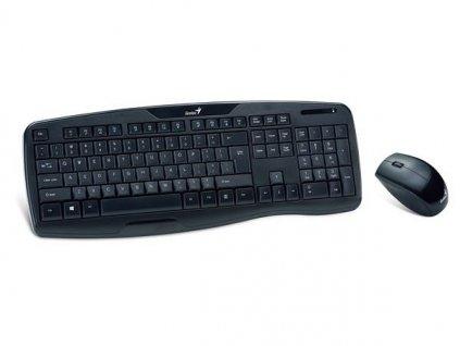 GENIUS klávesnice s myší KB-8000X bezdrátový set 2,4GHz mini receiver