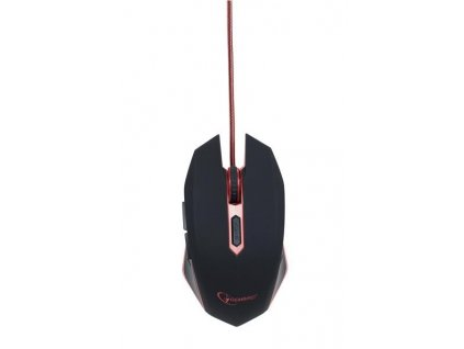 GEMBIRD myš MUSG-001-R optická, červeno-černá, 2400 dpi, USB