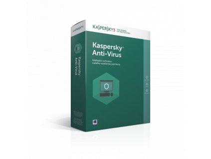 Kaspersky Anti-Virus 2016 CZ, 2PC, 1 rok, nová licence