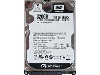 HDD 320GB, SATAII, 32MB cache, 2.5''