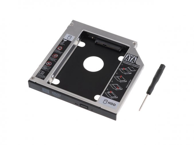12.7mm SATA 2nd HDD Hard Drive Caddy Adapter 1 6