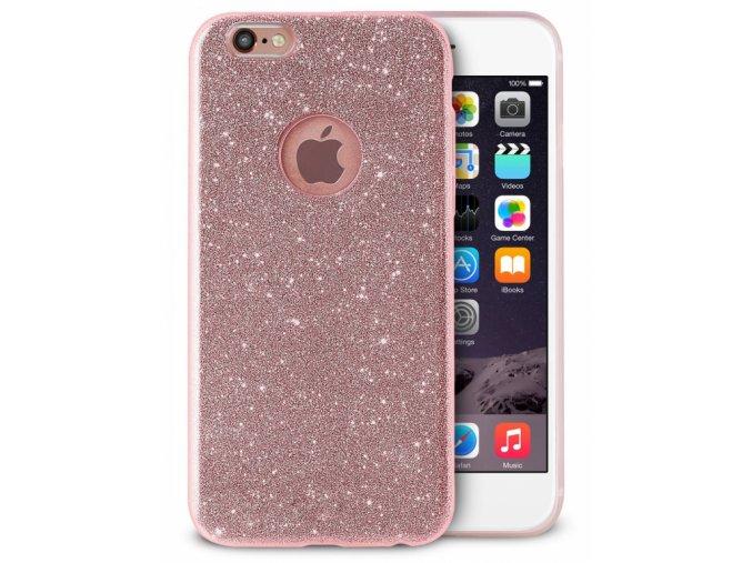 Ochranný kryt pro Apple iPhone 6 Třpytivě růžová