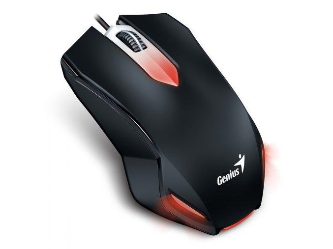 GENIUS myš X-G200 gaming, drátová, 1000 dpi, USB, černá