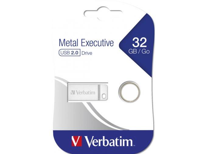 Verbatim Metal Executive Flash Disk 32GB USB 2.0 Kovový