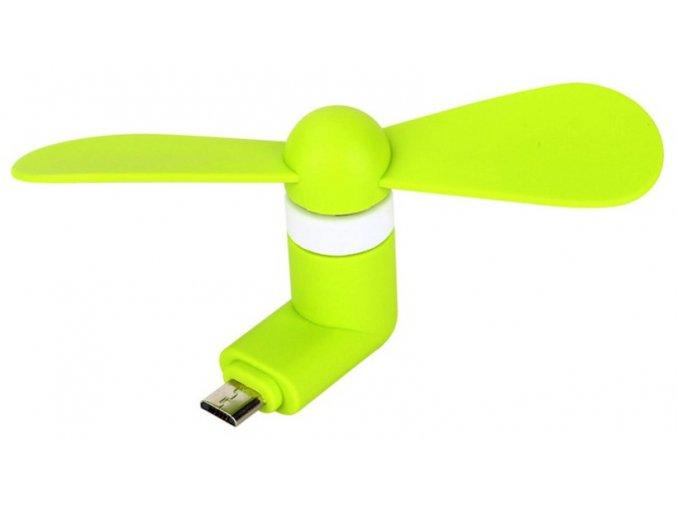 Micro USB Větráček Zelený