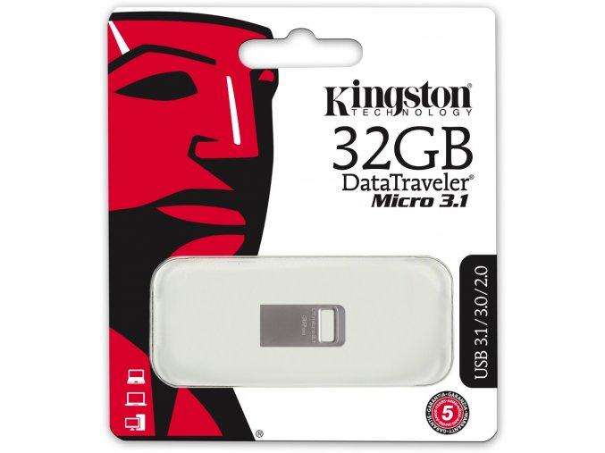 Kingston DataTraveler Micro 3.1 32GB kovový kryt 1