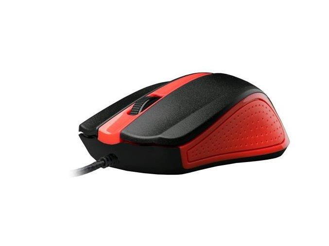 Drátová Myš C-TECH WM-01 - Červená