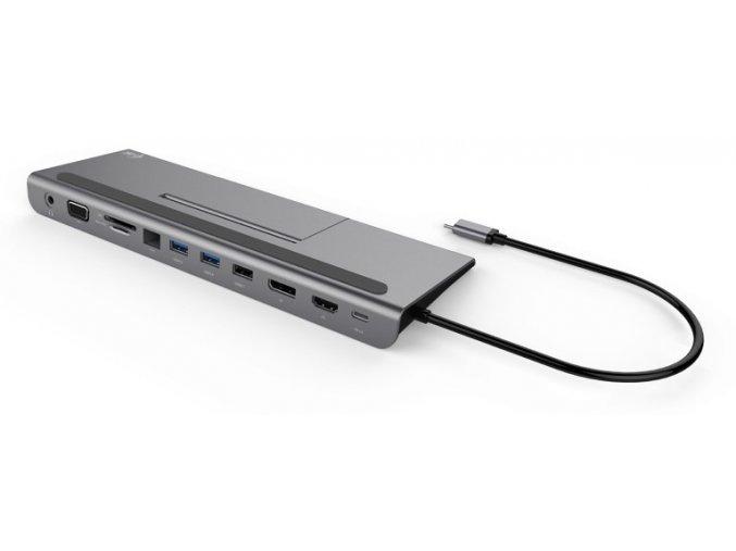 Dokovací stanice i tec USB C Metal Triple Docking Station 1