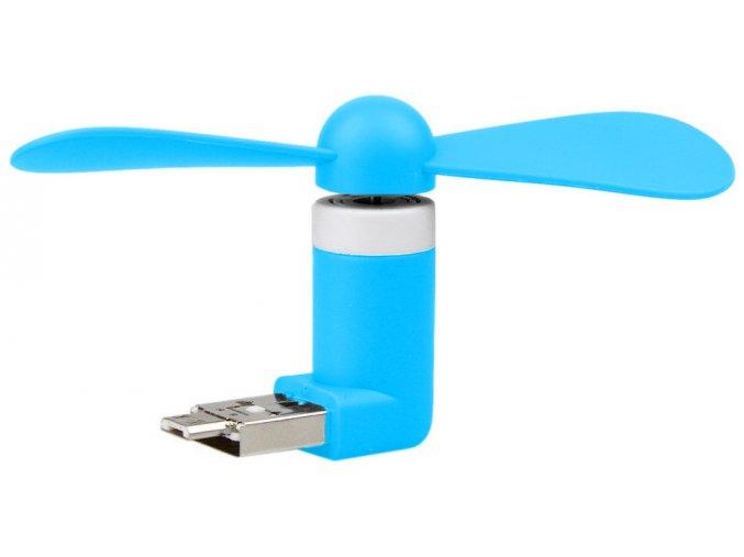 USB Micro USB Větráček Modrý 2