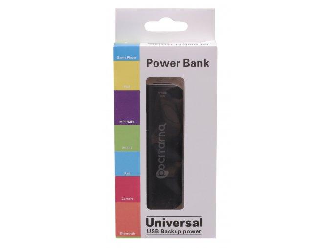 Powerbanka Počítárna 2000 mAh - externí bateriový zdroj - Černá