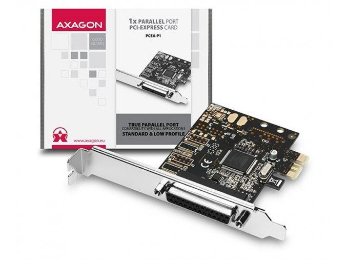 AXAGON PCI Express adapter 1x paralel port 1