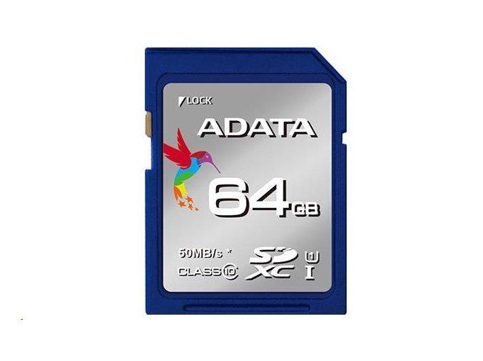 ADATA SDXC Karta 64GB UHS-I Class 10 Premier