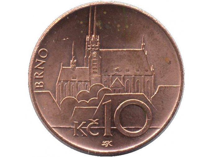 Mince 10Kč vzor 2003 rubová strana