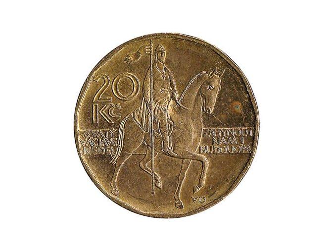 20 czech koruna coin obverse 1