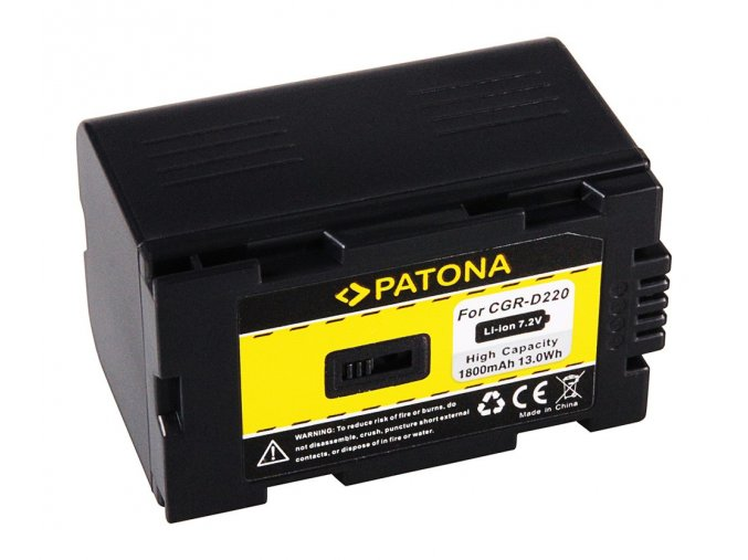 Aku Panasonic CGR D220 1600mAh Li-Ion