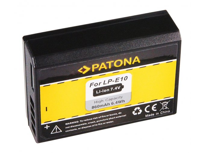 Aku Canon LP-E10 860mAh Li-Ion