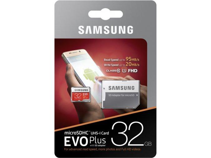 Samsung Micro SDXC 32GB EVO Plus UHS I U3 + SD adaptér 2