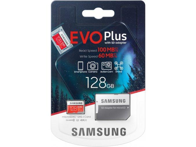 Samsung EVO Plus Micro SDXC 128 GB UHS I U3 + adaptér 1