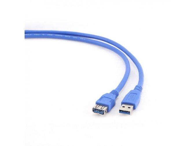 Kabel USB A A 1,8m USB 3.0 prodlužovací modrý