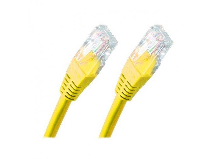 Síťový kabel, UTP - 0,25 m, žlutý