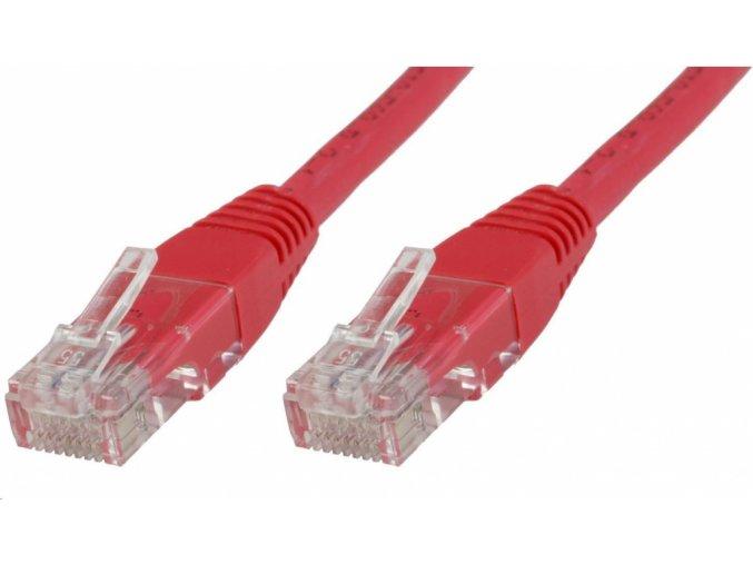 Síťový kabel, UTP 2 m, Červený