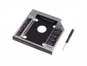 12.7mm SATA 2nd HDD Hard Drive Caddy Adapter 1 6
