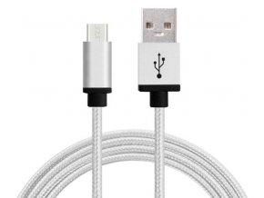 Synchronizační a nabíjecí kabel Micro USB 1,8m Bílý