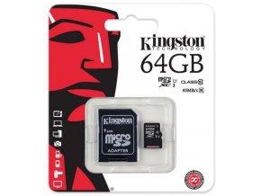 Kingston MicroSDXC Class 10 UHS I SDC10G2 64GB 1
