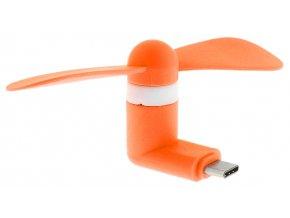 USB C Větráček – Oranžový