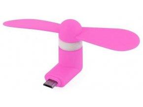 Micro USB Větráček Růžový