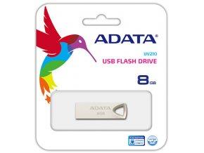 ADATA Flash Disk 8GB USB 2.0, UV210, Kovový