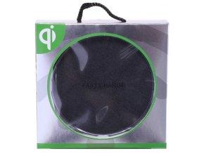 Bezdrátová nabíjecí podložka Wireless Qi - Černá