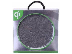 Bezdrátová nabíjecí podložka Wireless Qi - Šedá