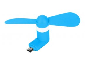 Micro USB Větráček – Modrý 1
