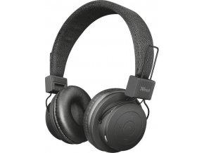 Sluchátka Trust Leva wireless bluetooth headphone Černá 1