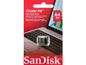 SanDisk Cruzer Fit Flash Disk 64 GB, USB 2.0 1