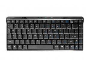 GEMBIRD klávesnice KB-207U-B, mini, CZ, černá