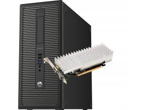 HP EliteDesk 800 G1 TWR gt1030 transparent
