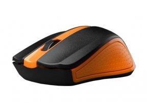 Bezdrátová Myš C-TECH WLM-01 - Oranžová