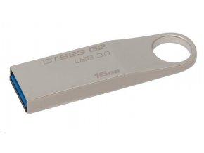 Kingston 16GB DataTraveler flash disk USB DTSE9 (2. generace, USB 3.0) - kovový kryt